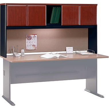 Bush Cubix 72in. Hutch, Hansen Cherry/Galaxy, Fully assembled
