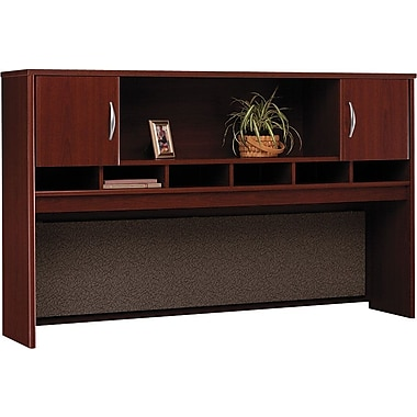 Bush Westfield 72in. 2-Door Hutch, Cherry Mahogany, Fully assembled