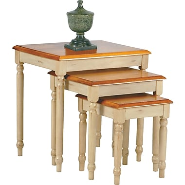 OSP Designs Country Cottage 3 Nesting Table Set