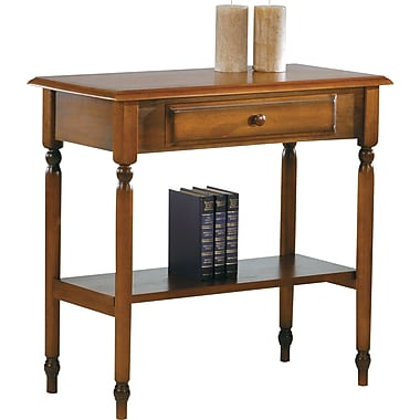 OSP Designs Knob Hill 30in. Foyer Table, Antique Cherry