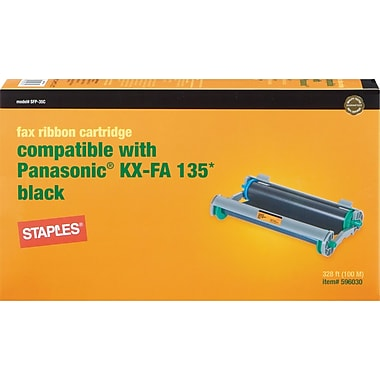 STAPLES Fax Cartridge Compatible with Panasonic KX-FA135