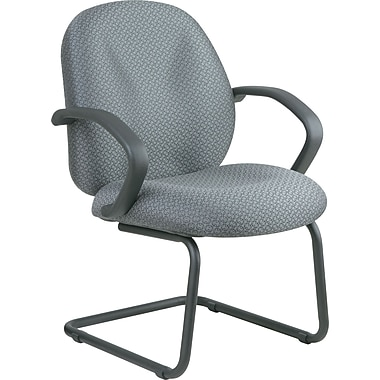Office Star Distinctive Fabric Guest Chair, Gray
