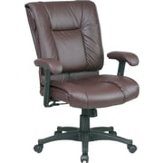 Office Star™ 9381 Mid-Back Leather Manager's Chair, Burgundy