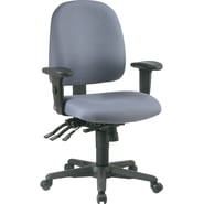 Office Star Ratchet Back Multi Function Fabric Ergonomic Task Chair, Gray