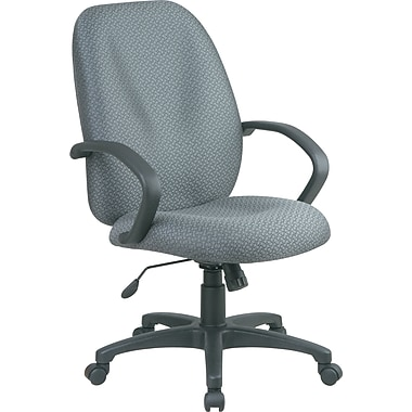 Office Star™ Distinctive High-Back Fabric Executive Chair, Gray