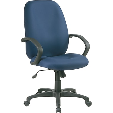 Office Star Distinctive High-Back Fabric Executive Chair, Blue