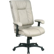 Office Star™ 9382 High-Back Leather Manager's Chair, Tan