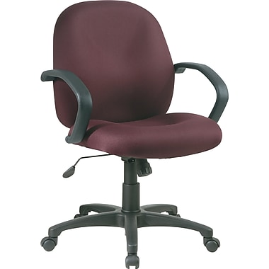 Office Star Mid-Back Fabric Conference Room Chair, Fixed Arms, Burgundy