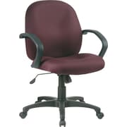 Office Star™ Distinctive Fabric Conference Room Chair, Burgundy