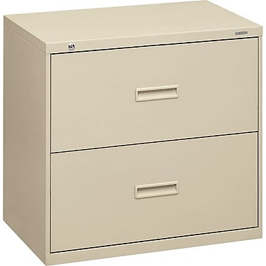 basyx by HON 400 Series 2-Drawer Lateral File Cabinet, 30in. W, Putty