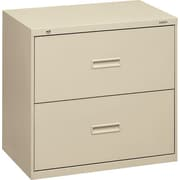 basyx™  400 Series Lateral File Cabinet, 30in. Wide, 2-Drawer,  Putty