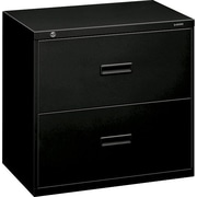 basyx by HON 400 Series 2-Drawer Lateral File Cabinet, 30 W, Black