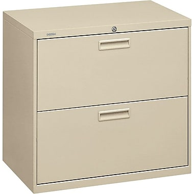HON® 500 Series Lateral File Cabinet, 30in. Wide, 2-Drawer,  Putty