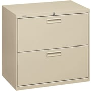 "HON® 500 Series Lateral File Cabinet, 30"" Wide, 2-Drawer,  Putty"