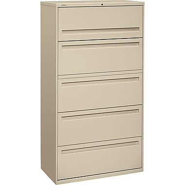 HON Brigade™ 700 Series 5 Drawer Lateral File, Putty/Beige,Letter/Legal, 36''W (HON785LL)