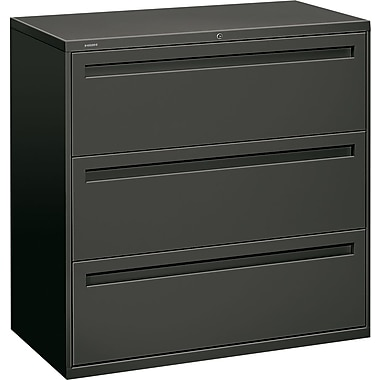 HON Brigade™ 700 Series 3 Drawer Lateral File, Charcoal,Letter/Legal, 42''W (HON793LS)
