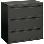 HON® Brigade™ 700 Series Lateral File Cabinet, 42 Wide, 3-Drawer, Charcoal