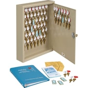 "MMF Industries™ STEELMASTER® Dupli-Key® Two-Tag Cabinet, Sand, 60 Key Capacity, 17 1/2""H x 14""W x 3 1/8""D"