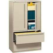 HON® 700 Series Lateral File Cabinet With Storage, 42 Wide, 2-Drawer, Putty