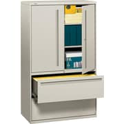 HON® 700 Series Lateral File Cabinet With Storage, 42 Wide, 2-Drawer, Light Gray