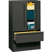 HON® 700 Series Lateral File Cabinet With Storage, 42 Wide, 2-Drawer, Charcoal