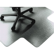 "National Industries Heavy-Duty Vinyl Chairmat, For High Pile Carpets, Wide Lip, 45"" x 53"""