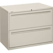 HON® Brigade™ 700 Series Lateral File Cabinet, 36 Wide, 2-Drawer, Light Gray
