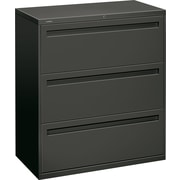 HON® Brigade™ 700 Series Lateral File Cabinet, 36 Wide, 3-Drawer, Charcoal