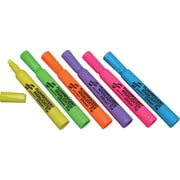 National Industries Highlighters, Assorted Fluorescent Colors, 6/Pk