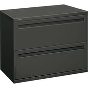 HON® Brigade™ 700 Series Lateral File Cabinet, 36 Wide, 2-Drawer, Charcoal