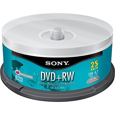 Sony 25/Pack 4.7GB DVD+RW, Spindle