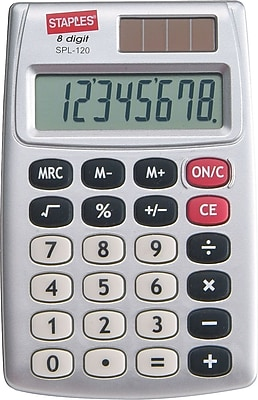 Staples SPL 120 CC 8 Digit Display Calculator