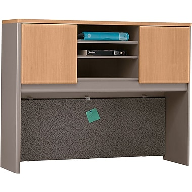 Bush Cubix 48in. Hutch, Danish Oak/Sage, Fully assembled