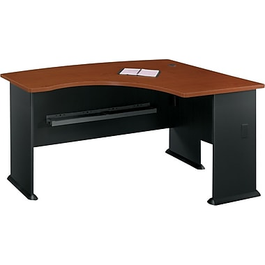 Bush Cubix Right L-Bow Desk, Hansen Cherry/Galaxy