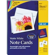 Avery Inkjet Notecards, White, Matte Finish, 60 Pack