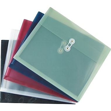 Staples Poly Envelopes w/ Side Opening, Letter, Assorted, 5/Pack