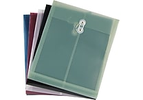 Staples Poly Envelopes w/ Top Opening, Letter, Assorted, 5/Pack