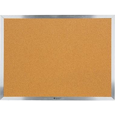 Staples® Economy Cork Bulletin Board, Aluminum Frame, 18