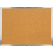 Staples® Economy Cork Bulletin Boards, Aluminum Frame
