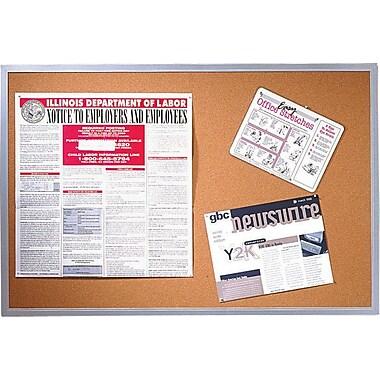 Quartet® – Tableau en liège avec cadre en aluminium, 48 po x 72 po
