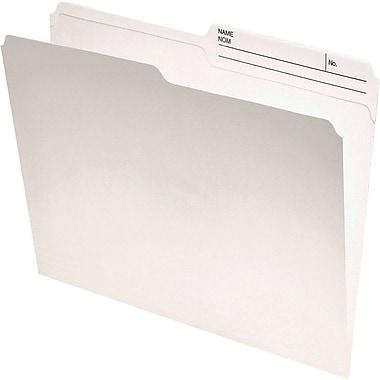 Staples® - Chemises recyclées de classement, dessus renforcé double épaisseur, format lettre, ivoire