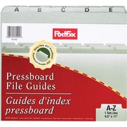 PostFax® A-Z File Guides, Green
