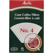 Melitta Coffee Filters, Cone Style #4, 40/Pack