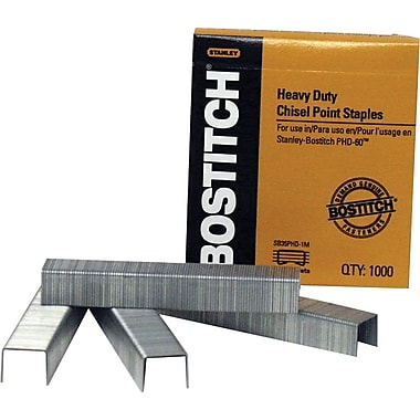 Stanley Bostitch Heavy-Duty Staples, 1/4