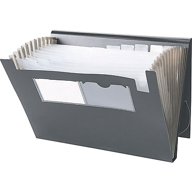 Winnable Poly Expanding File, 13-Pocket, Letter Size, Black
