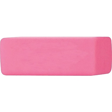 Staples® Pink Erasers, 3/Pack