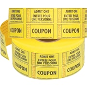 """Admit One"" Tickets with Coupon, 1,000/Roll"