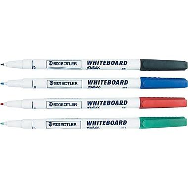 Staedtler® Lumocolor Dry-Erase Markers, Medium Tip, Assorted, 4/Pack