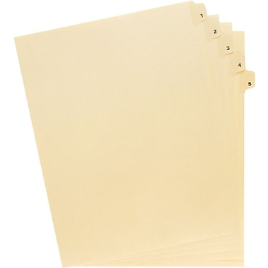 Oxford® Legal Trade Exhibit Dividers, 1-50, 50-Tab Set