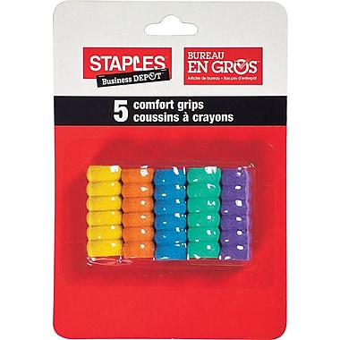 Staples® Comfort Grips, 5/Pack